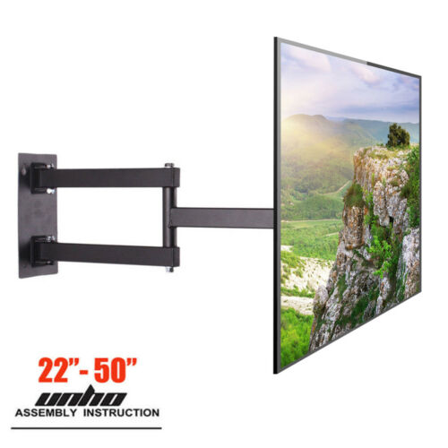 Full Motion TV Wall Mount Corner Articulatig Arm VESA Bracket For 3250 LG Sony