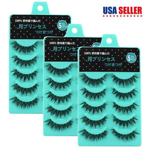 Wholesale 15 Pairs Makeup Natural False Eyelashes Soft Long Full Volume Eye Lash