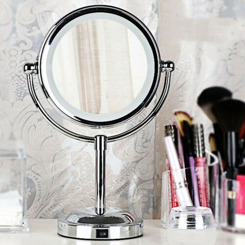 Round Magnifying LED Lighted Vanity Mirror Make Up Cosmetic