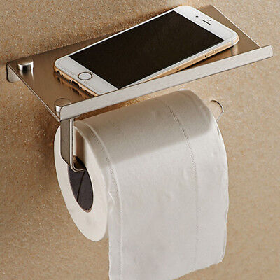 Wall Mounted Bathroom Toilet Paper Holder Rack Tissue Roll Stand Stainless Steel