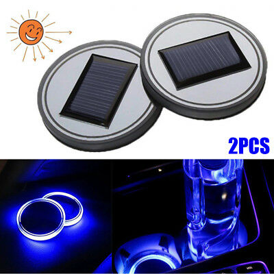Anti-slip Mat Supply Universial Car Truck Interior Solar Energy Cup Pad Trim Led Light Lamp