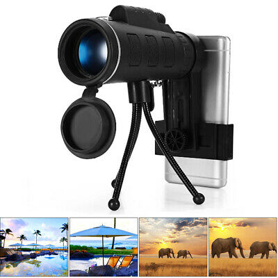 High Power HD Monocular Telescope Cell Phone Dual Focus Optics Zoom Lens Scopes
