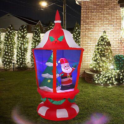 Large Christmas Airblown Inflatable Led Santa Xmas Lantern Home Yard Lawn Decor ()