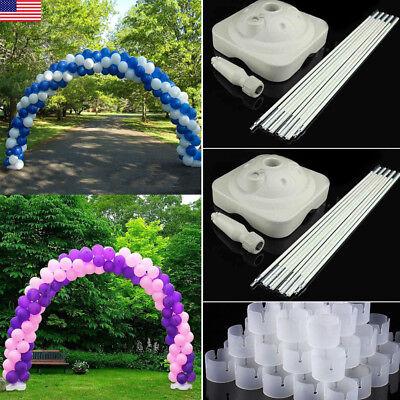 Heavy Duty Balloon Arch Floor Stand Kit &Pole,Base,Connector Wedding Party - Party Balloon Kit