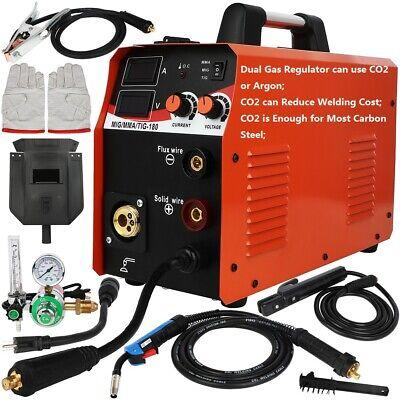 Low Cost Dual Gas Co2argon 180a Inverter Welder Migtigstick Welding Machine