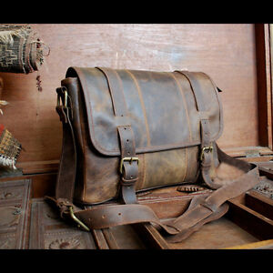 Rugged Leather Briefcase Ebay