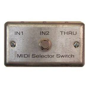 MIDI Selector Switch Switcher ~ 2 Input / 1 Thru ~ 5-Pin DIN Female