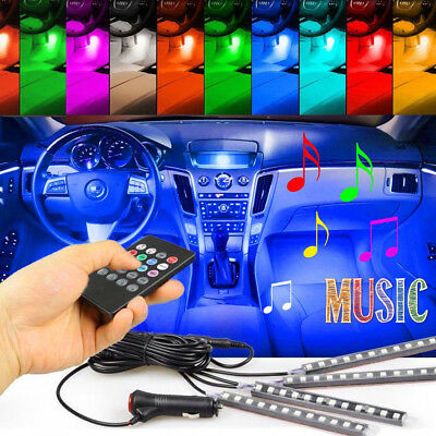4x RGB Full Color 36 LED Interior Car Under Dash Floor Seats Accent Light Kit