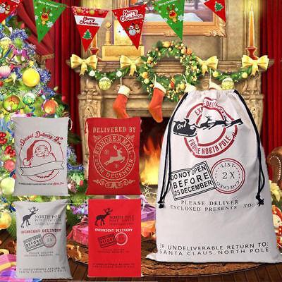 Christmas Santa Sack XMAS Gift Sack Stocking Storage Burlap Bag Wholesale Price](Burlap Santa Sack)