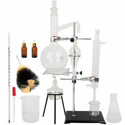 1000ml Lab Glassware Equipment Distillation Apparatus For Chemistry Experiment