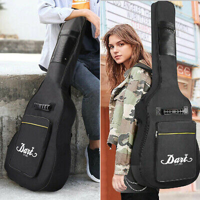 "Large Acoustic Guitar Gig Bag Thick Padded 41"" Carrying Case Protector Backpack"