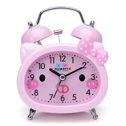 Twin Bell Alarm Clock for Kids, Silent Non-Ticking Cartoon Quartz Loud Alarm