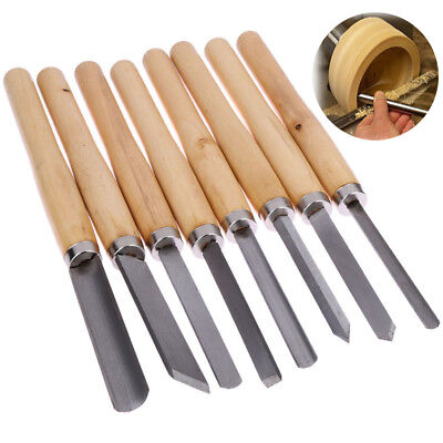 Wood Lathe Chisel Set Woodworking Turning Tools Cutting Carving HSS Steel Blades