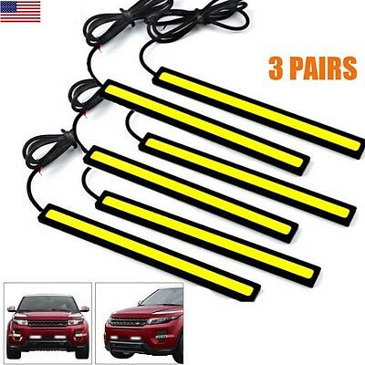 6x Super Bright 12V LED Strips COB Car Auto DRL Driving Lamp Fog Light Universal