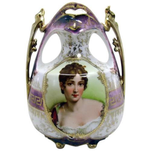 Signed Royal Vienna Porcelain Portrait Vase - 1905