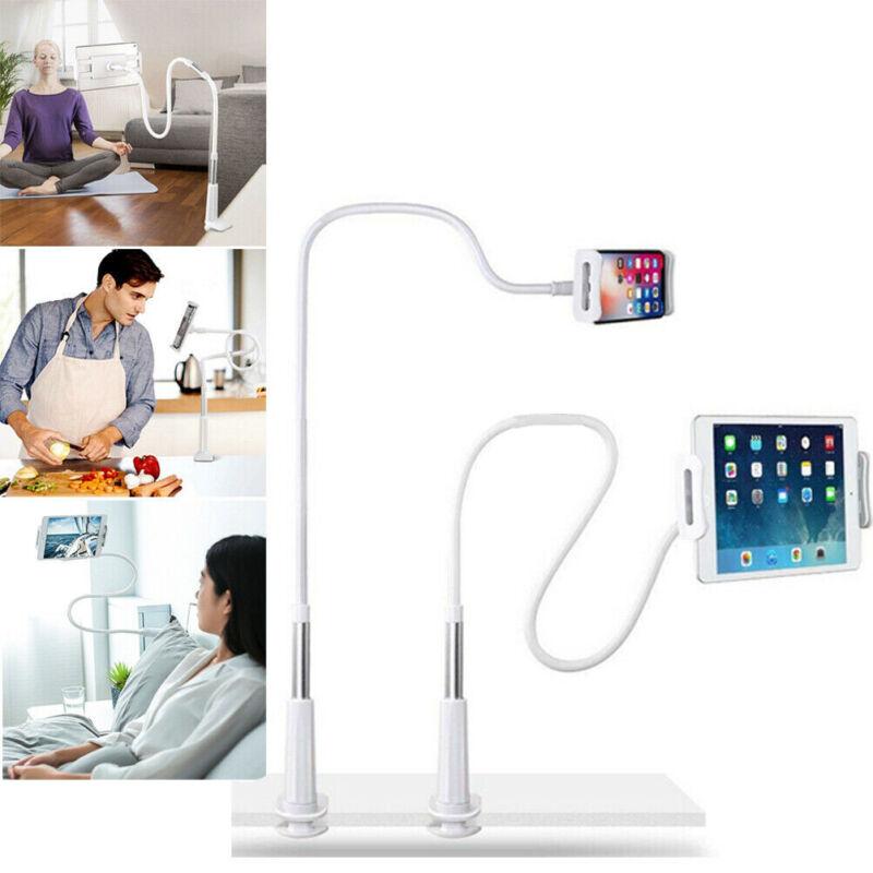 Heavy Duty Aluminum Gooseneck Lazy Tablet iPad Holder Stand Cellphone Desk Mount