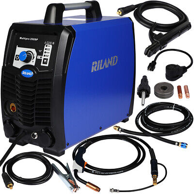 Riland 200a Inverter Multi Process Welder 230v115v Migtigarc Stick Welding