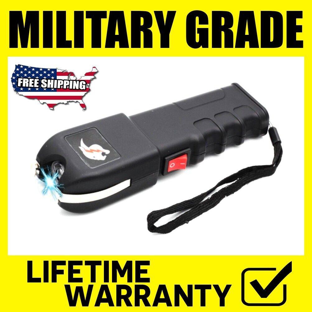 Military Stun Gun Maximum Power Rechargeable With Bright Flashlight