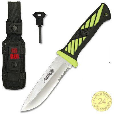Outdoor Messer mit Survival Feuerstarter zum HAMMER-PREIS incl Nylon-Scheide ()