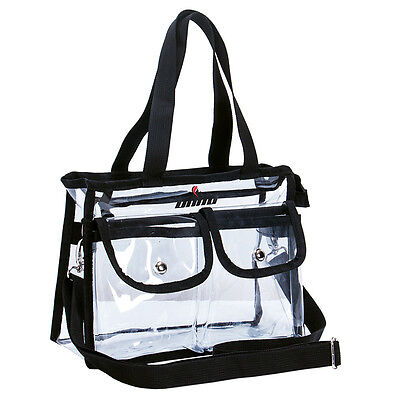 Transparent Zipper Purse Clear Handbag Tote Shoulder Crossbody Bag Fashion NFL