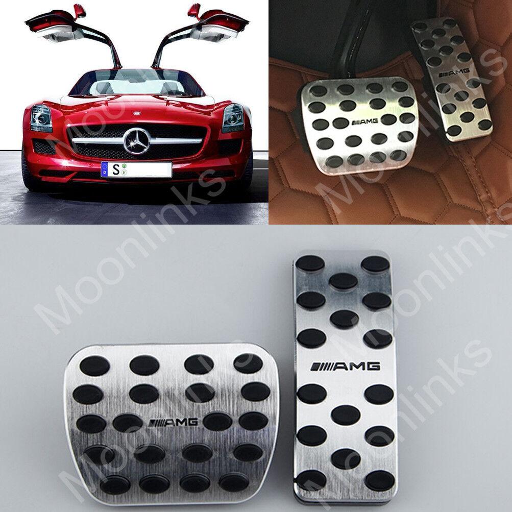 For Mercedes Benz A B CLA GLA ML GLE Class No Drill AMG Gas Fuel Brake Pedal Pad