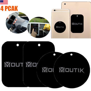 4× Mount Metal Plates Kit for iPhone Magnetic Phone Holder Car Mount Tablet iPad