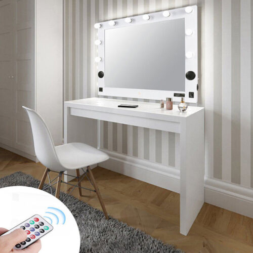 Hollywood Vanity Makeup Mirror w/ Led Light Dimmer MP3 USB S