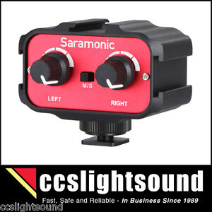 SARAMONIC AX100 TWO-CHANNEL AUDIO ADAPTOR FOR VIDEO CAMERA
