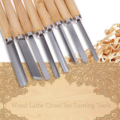 8X Wood Turning Lathe Chisels Chisel Set Lot Vintage Woodturning Tools Tool Kits