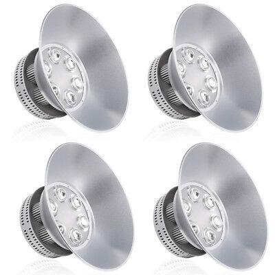 4x Led High Bay Light Warehouse Factory Industry Shop Lighting Bulit-in Cool Fan
