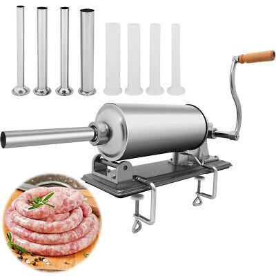Sausage Stuffer Meat Press Filler Stainless Steel Maker 8 Tubes6.5 Lbs 3l