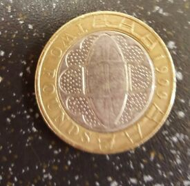 1999 £2 RUGBY WORLD CUP TWO POUND COIN