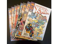 Grab bag of 8 collectible comic books. (essential X-men/E.T.C.)