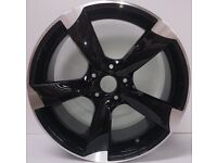 """NEW 19"""" inch Audi Rotor Alloy Wheels Black EDITION A3 A4 A5 A6 RS3 RS4 RS5 RS6 S5 S6 S3 S4 BFD"""