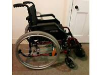 Self propelled wheelchair Comes with cushion Can deliver