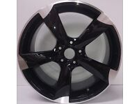 """NEW 19"""" inch Audi Rotor Alloy Wheels Black EDITION A3 A4 A5 A6 RS3 RS4 RS5 RS6 S5 S6 S3 S4 TTRS q2"""