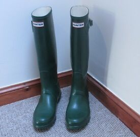Green Hunter Wellies Size 7