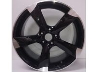 """NEW SET OF 4x 19"""" inch Audi Rotor Alloy Wheels Black A3 A4 A5 A6 RS3 RS4 RS5 RS6 S LINE S3 S4 TTRS"""