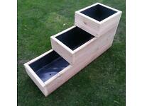 Large Planter Three Step, Fully Lined, Pressure Treated Decking Timber.Quality Built.
