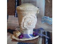 Handmade Shabby Chic Top Hat Pin Cushion