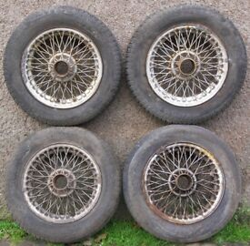 Lot 4 MGB GT 14-inch Wire Spoke Wheels