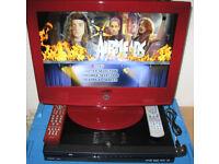 CELLO 19 inch LCD DVB TV DVD player (no sound) AND LOGIK LDVR78 DVD-R recorder