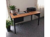 ARKELSTORP black wooden desk from IKEA