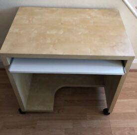 Maple effect computer desk
