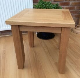 Oak Lamp/ Side Table, New & Boxed, 2 Available.