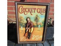 (#666) sport ' Cricket club ' 3d picture (Pick up only, Dy4 area)