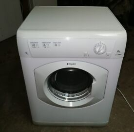 HOTPOINT 6KG VENTED TUMBLE DRYER IN GOOD WORKING ORDER Al
