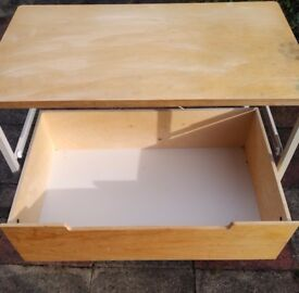 Ikea metal frame and ply timber 3 drawer unit. Needs painting to suit £15.00