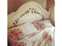 Shabby chic sodden double bed frame