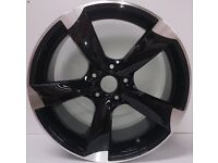 "Brand New 19"" inch Audi Rotor Alloy Wheels Black A3 A4 A5 A6 RS3 RS4 RS5 RS6 Q7 S LINE S3 S4 R TT RS"